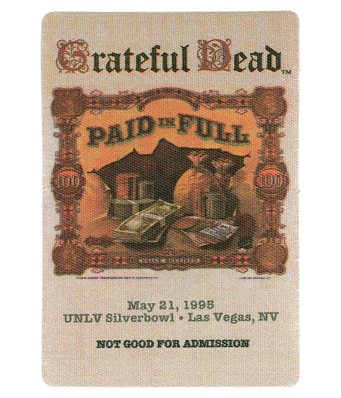 GRATEFUL DEAD 1995 05-21 BACKSTAGE PASS