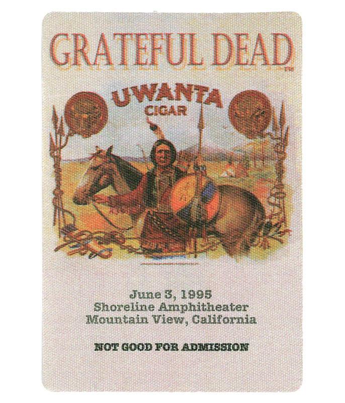 GRATEFUL DEAD 1995 06-03 BACKSTAGE PASS