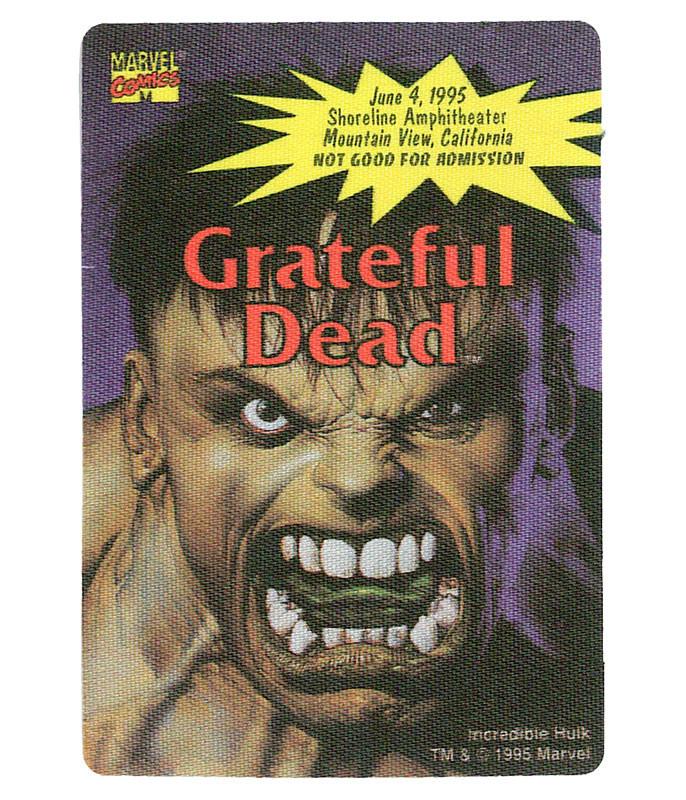 GRATEFUL DEAD 1995 06-04 BACKSTAGE PASS