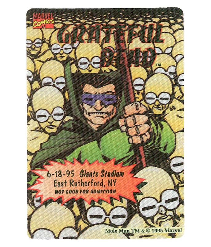 GRATEFUL DEAD 1995 06-18 BACKSTAGE PASS