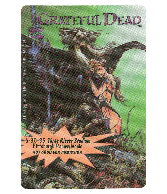 GRATEFUL DEAD 1995 06-30 BACKSTAGE PASS