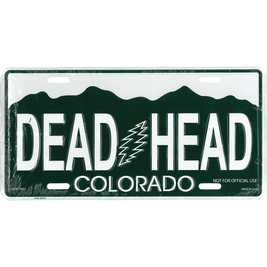 Grateful dead gd colorado license plate liquid blue for Colorado one day fishing license