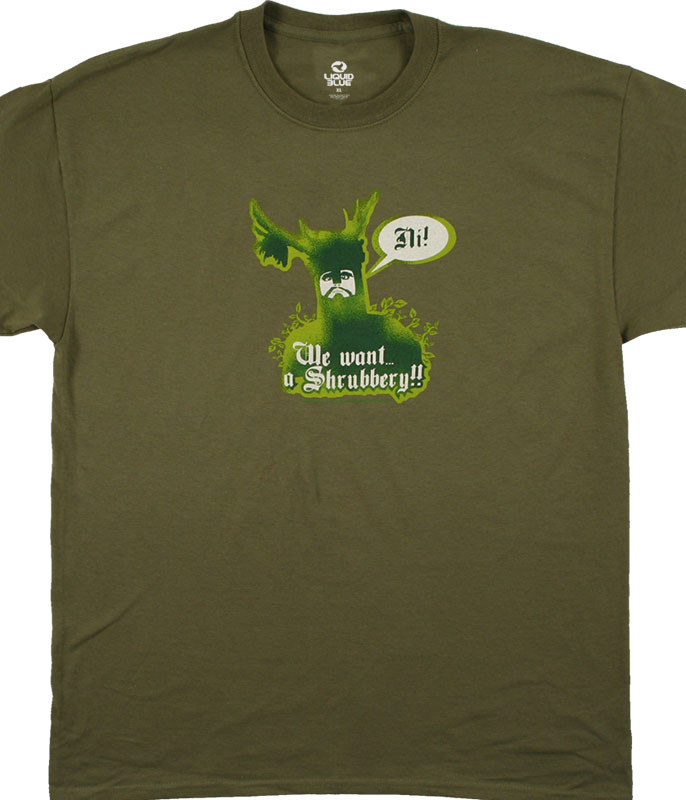 KNIGHTS OF NI OLIVE T-SHIRT