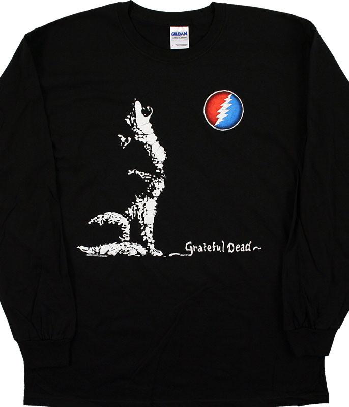 GD Wolf Moon Black Long Sleeve T-Shirt