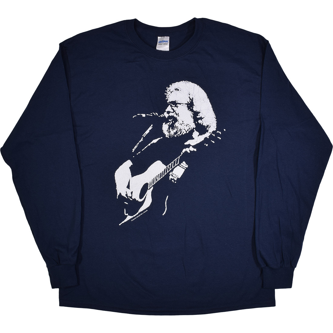 Jerry Garcia Acoustic Navy Long Sleeve T-Shirt