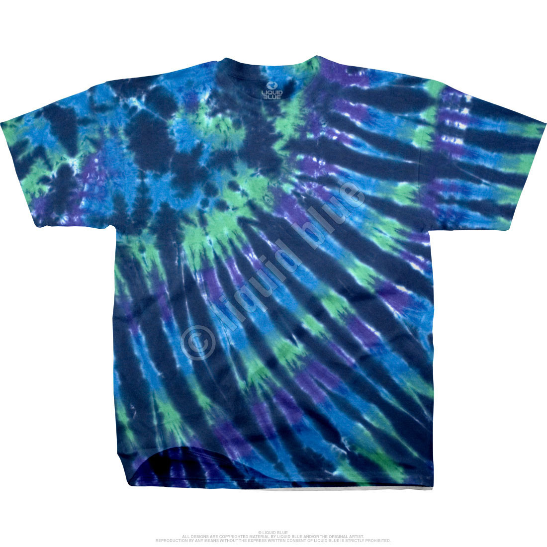 Cool Nebula Unprinted Tie-Dye T-Shirt