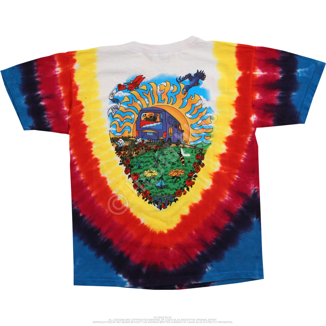Summer Tour Bus Youth Tie-Dye T-Shirt