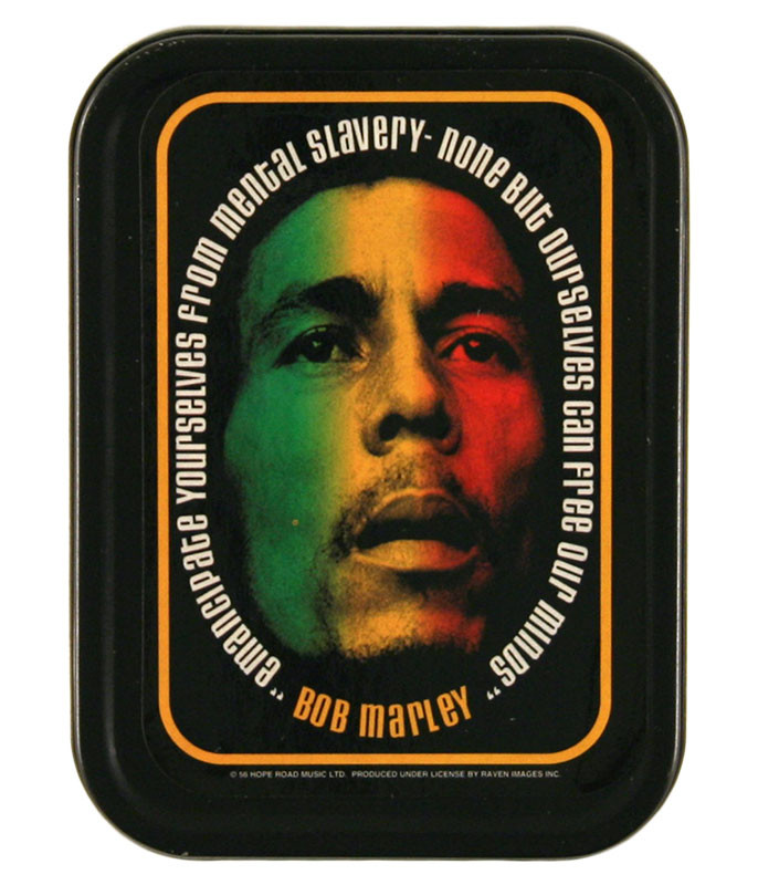 BOB MARLEY FACE STASH TIN