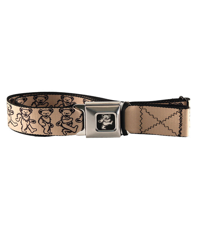 DANCING BEAR SEATBELT BELT TAN