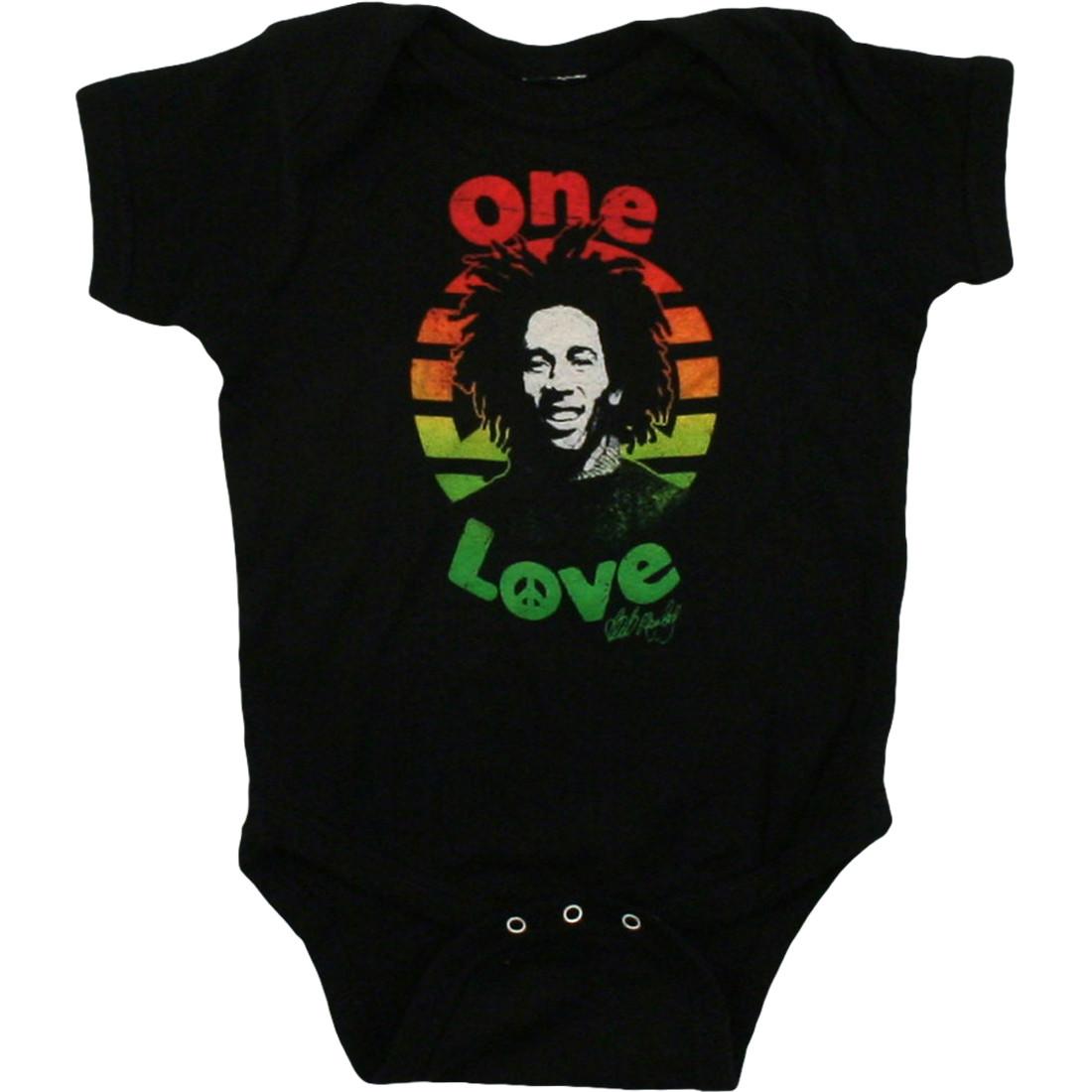Marley One Love Black Onesie