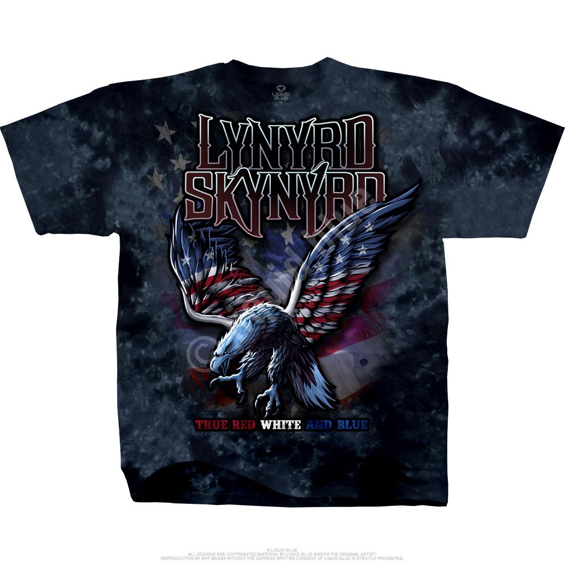 Lynyrd Skynyrd True Red White Blue Tie Dye T Shirt Tee