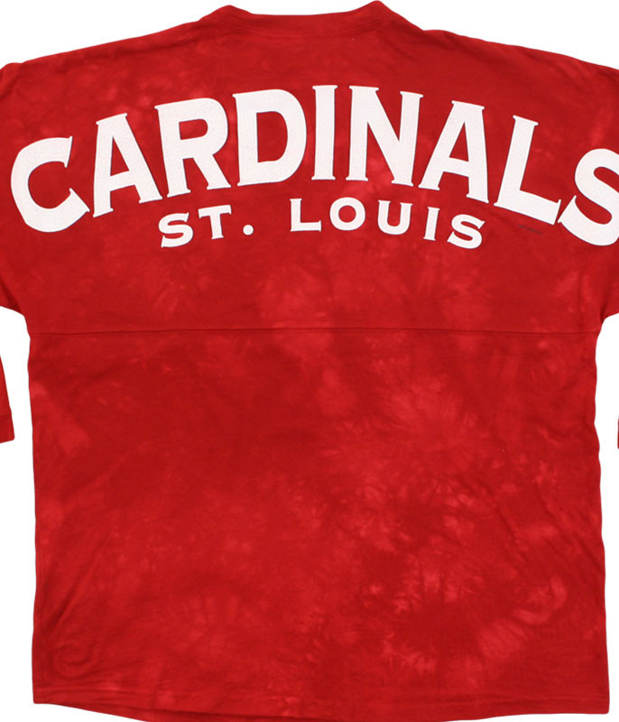 ST. LOUIS CARDINALS INSIDE THE PARK TIE-DYE BOYFRIEND JERSEY