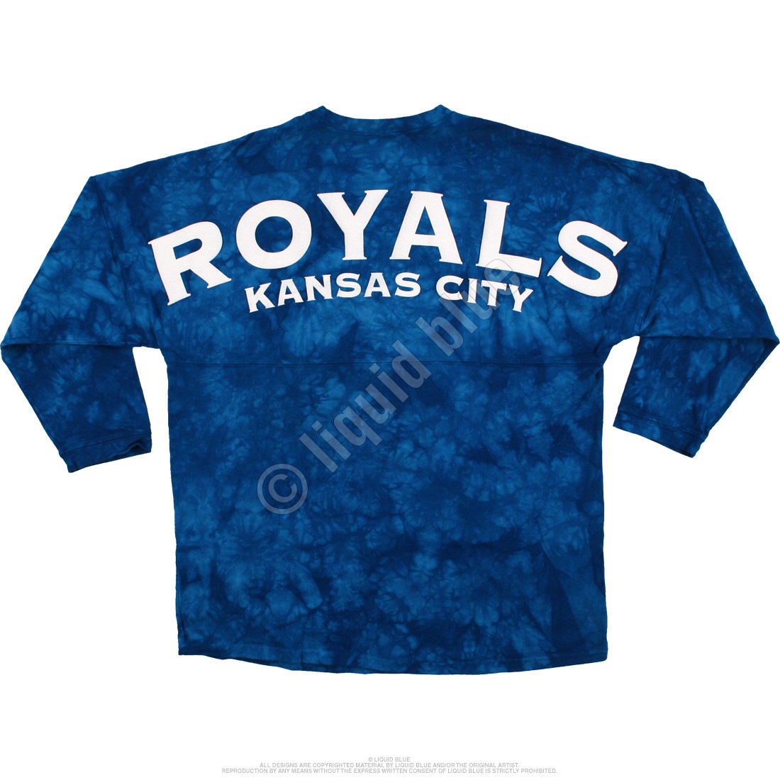 Kansas City Royals Inside the Park Tie-Dye Boyfriend Jersey