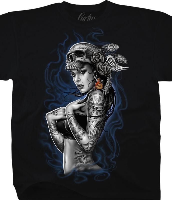 SMOKE TATTOO BLACK T-SHIRT