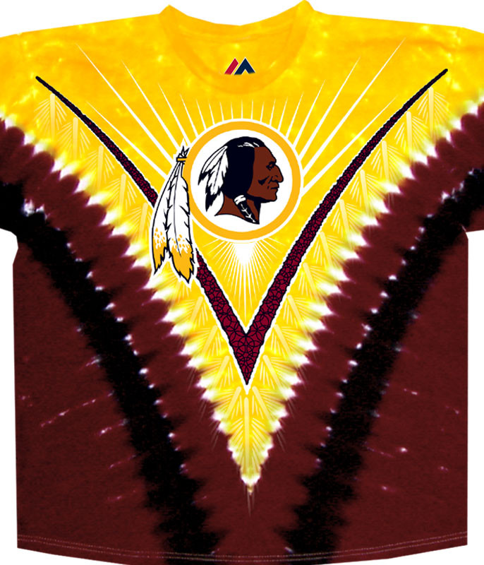 WASHINGTON REDSKINS V TIE-DYE T-SHIRT