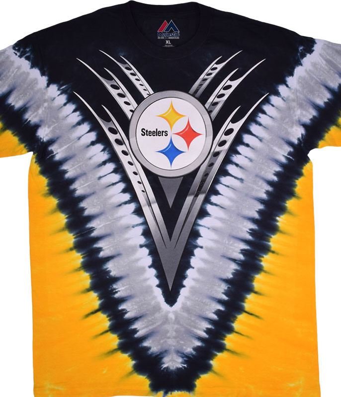PITTSBURGH STEELERS V TIE-DYE T-SHIRT