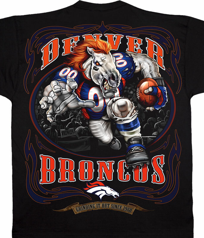 DENVER BRONCOS RUNNING BACK BLACK T-SHIRT