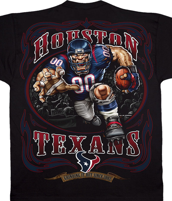 HOUSTON TEXANS RUNNING BACK BLACK T-SHIRT