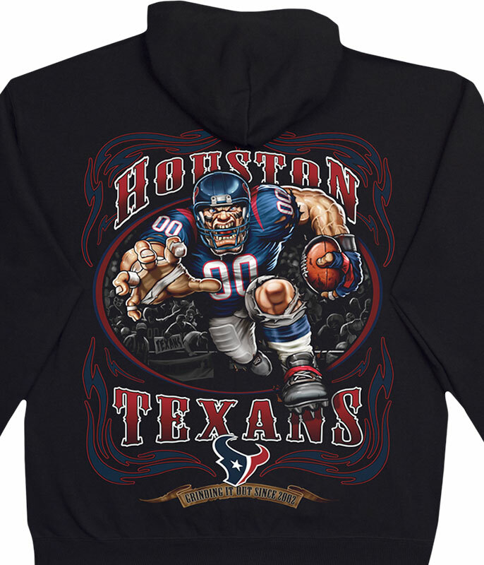 HOUSTON TEXANS RUNNING BACK BLACK HOODIE