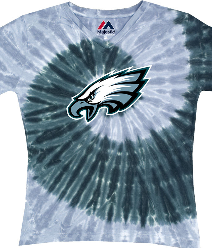 PHILADELPHIA EAGLES JUNIORS V TIE-DYE LONG LENGTH T-SHIRT