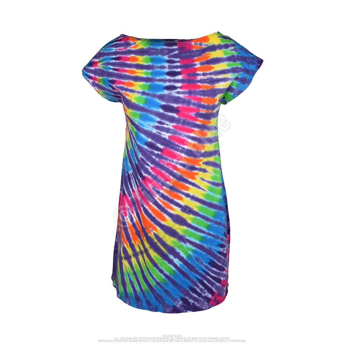 Rainbow Purple Streak Womens Unprinted Tie-Dye Sundress