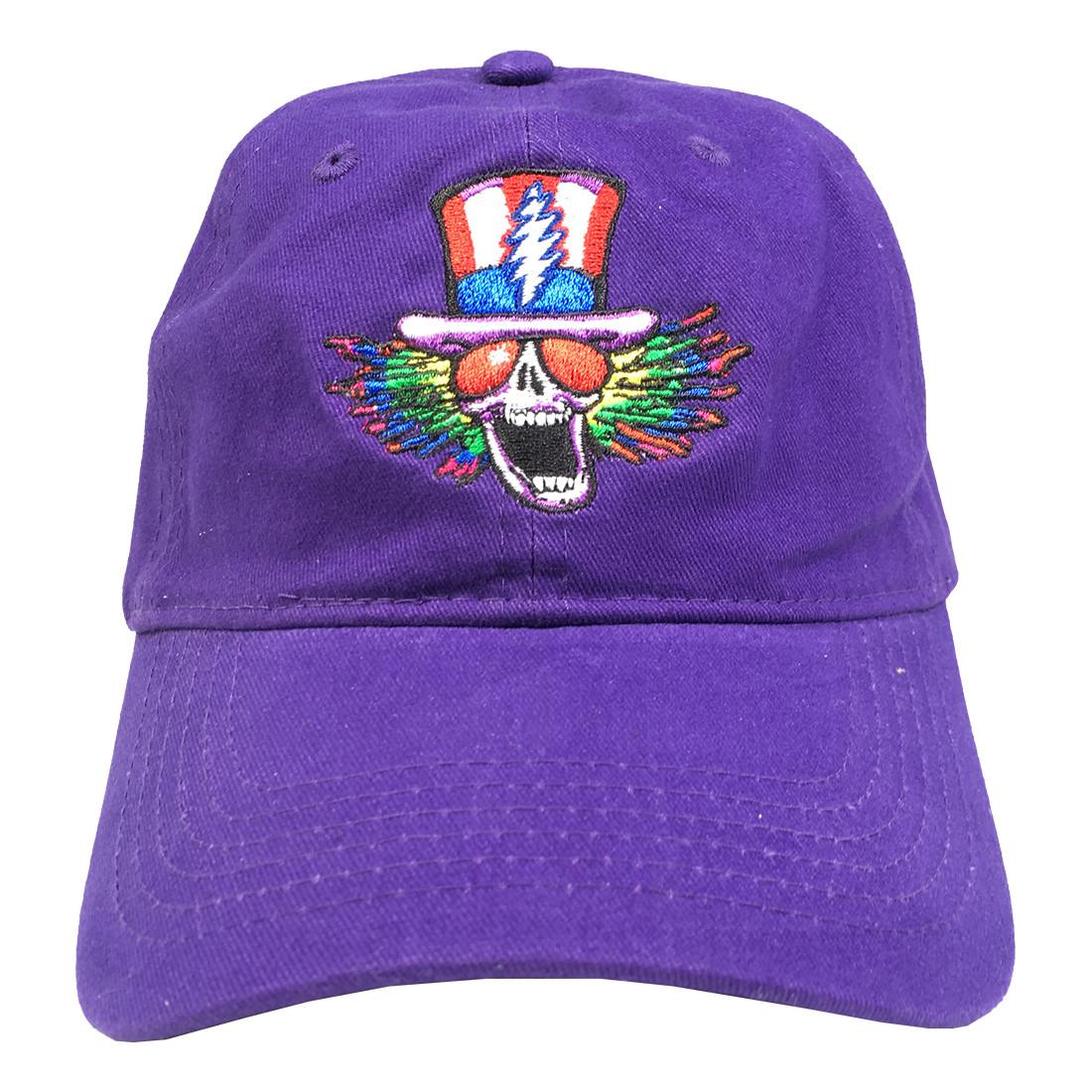 grateful dead gd psycle sam purple baseball cap liquid blue