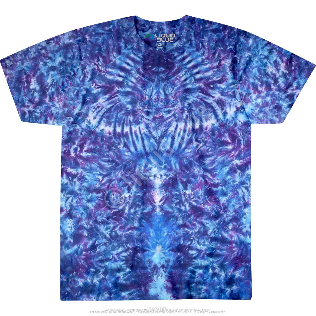 Crazy Blue Krinkle Unprinted Tie-Dye T-Shirt