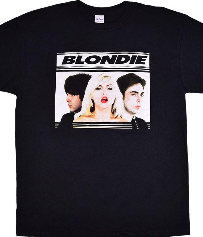 BLONDIE HOT LIPS BLACK T-SHIRT