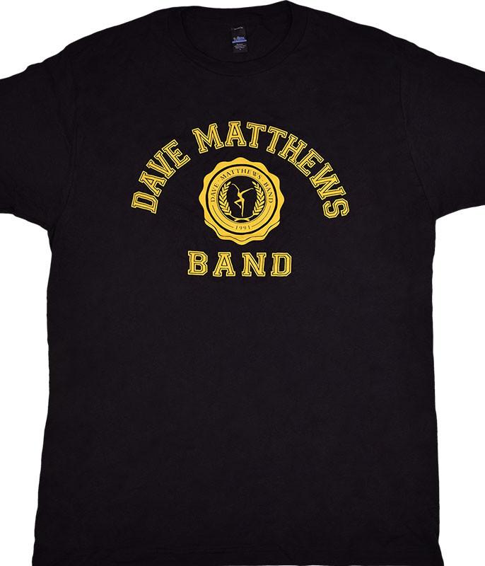 DAVE MATTHEWS BAND COLLEGE LOGO BLACK T-SHIRT
