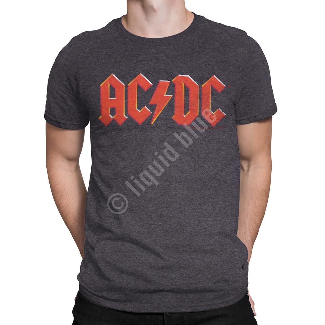 AD/DC Vintage Logo Dark Heather Poly-Cotton T-Shirt