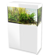 AquaEl White Glossy 80 Aquarium and Cabinet