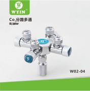 Wyin 4 Way CO2 Splitter - Metal CO2 Flow Controller