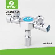 Wyin 2 Way CO2 Splitter - Metal CO2 Flow Controller
