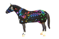 Whether you are a collector or just love model horses, these cute sets, by Sleazy Sleepwear for Horses™ fit most of the standard size model horses. They are available in all of the current solids, prints and foils that Sleazy Sleepwear offers. Set includes Hood and Sheet.