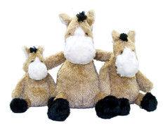 Available in 3 sizes this super soft cuddly horse makes a great gift for horse lovers of all ages. The Pudgy Horse is tan with a cream muzzle and black mane and tail. Approx. sizes, Small 7in., Medium 9.5in., and Large 13in.