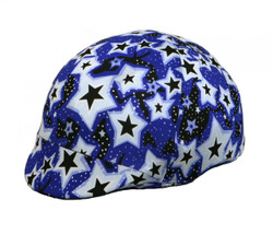 Stand out in a crowd with a colorful helmet cover by Sleazy Sleepwear for Horses™. These bright and fun covers help to protect your helmet from scratches and dirt. They come in all of the great prints, and foils offered by Sleazy Sleepwear for Horses™.  These covers fit most safety helmets. Shown here in our Twinkle Print.