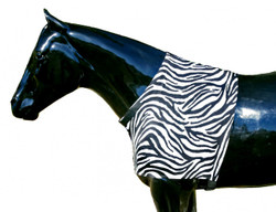 Help protect your horse's shoulders against blanket rub by using a Sleazy Sleepwear for Horses™ Shoulder Guard. It also provides additional warmth for the shoulders. The neck opening is enhanced inside with a fleece band, and the neck opening is made adjustable with Velcro tabs. The shoulder guards are made from nylon or polyester spandex and are available in 6 sizes. Other features include;   •Generously sized patterns.  •4-way stretch, premium, fabrics.  •All closures use a special, low profile, high strength, hook & loop fastener, for maximum strength, reliability, and ease of use.  •Fully finished hems with encased elastic for durability, and heavy duty, fully hemmed, girth elastic.