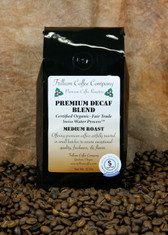Decaf Premium Blend - Certified Organic - Fair Trade - This coffee has a pleasing balance of wonderful lasting body with highlights of sweetness and acidity.
