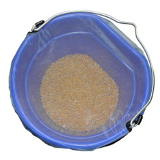 Mesh Bucket Tops are an excellent way to keep bugs out of your feed bucket while allowing air flow.  Made of a high quality insect-proof mesh and nylon, the Mesh Bucket Top works great in warmer climates or with feed that requires air circulation.  Nice to keep moist feed from sweating and no worries if your bucket tips over!  The Mesh Bucket Top comes in 2 sizes, made with 840 denier black nylon sides and light bug proof mesh.  They fit any shape bucket within their respective sizes.  Available Sizes: Small (8 Quart)  or  Large (5 Gallon)