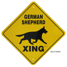 "German Shepherd Xing / 12""x12"" / Yellow & Black"