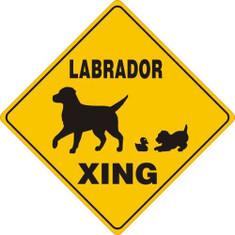 "Labrador Xing / 12""x12"" / Yellow & Black"