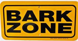 """BARK ZONE / 6""""x12"""" / Yellow & Black"""