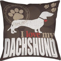 I Love My Dachshund Pillow