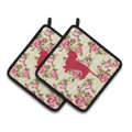 Smooth Dachshund Potholders