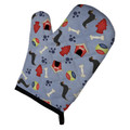 Dachshund And Dog House Print Oven Mitt