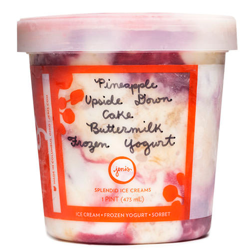 Pineapple Upside Down Cake Buttermilk Frozen Yogurt - Jeni's Splendid Ice Creams