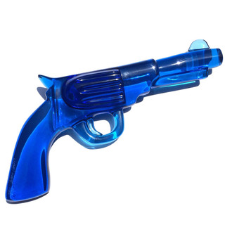 Blue Boulder Revolver Sculpture