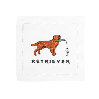 Retriever Linen Cocktail Napkins