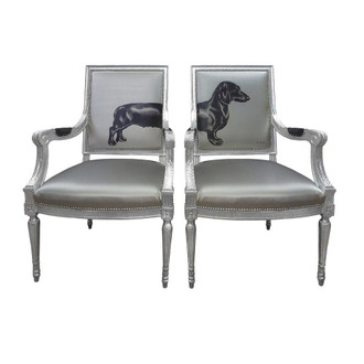Sausage Dog Chairs, Silver