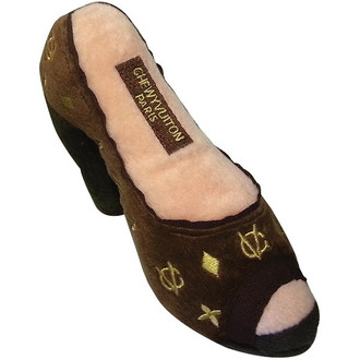 Chewy Vuitton Shoe Dog Toy